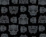 Black Panther FLANNEL - Mask Black from Camelot Fabrics