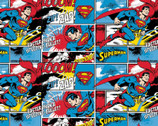 Superman FLANNEL - Comic Strip from Camelot Fabrics