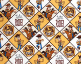 Toy Story 4 FLANNEL - Woody Framed from Camelot Fabrics