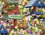 Lush Garden - Bird Houses from David Textiles Fabrics