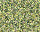 Memoire a Paris LAWN - Floral Daisy Lemon Yellow from Lecien Fabric
