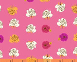 Far Far Away 2 - Roses Fuchsia Pink by Heather Ross from