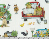 Down On The Farm - Truck Veggies Animals by Mary Lake-Thompson from Robert Kaufman Fabric