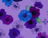 Misty - Violet Floral Allover from Timeless Treasures Fabric