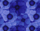 Misty - Royal Flower Tonal Blue from Timeless Treasures Fabric