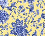 Maison des Fleurs - Jacobean Floral Yellow by Kanvas Studio from Benartex Fabrics