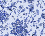 Maison des Fleurs - Jacobean Floral Powder Blue by Kanvas Studio from Benartex Fabrics
