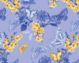 Maison des Fleurs - Butterfly Belle Blue by Kanvas Studio from Benartex Fabrics