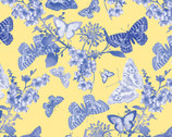 Maison des Fleurs - Butterfly Belle Yellow by Kanvas Studio from Benartex Fabrics