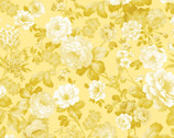 Maison des Fleurs - Fleur De Jardin Yellow by Kanvas Studio from Benartex Fabrics