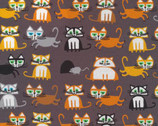 Cats by Ed Emberley from Cloud 9 Fabrics