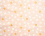 Tonoshi Poplin - Mochi Dot Shell METALLIC Gold from Birch Fabrics