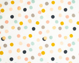 Tonoshi Poplin - Mochi Dot Girl METALLIC Gold from Birch Fabrics