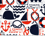 Ahoy Matey - Navy from Michael Miller Fabric