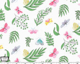Joy - Tapestry Sprout Moth Butterfly Floral from Michael Miller Fabric