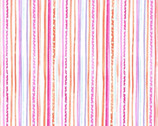 Fairy Frolic - Pixie Stripe Pink Glow from Michael Miller Fabric