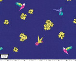 Birds and Blossoms - Hummingbirds and Hibiscus Tropical from Michael Miller Fabric