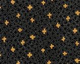 Wayside - Geo Black Metallic Karen Lewis from Robert Kaufman Fabric