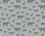 Farm Sweet Farm - Farm Animals Grey by Contempo from Benartex Fabrics