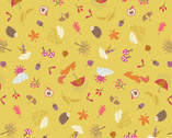 Whatever the Weather - Autumn Yellow Mustard from Lewis and Irene Fabric