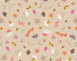 Whatever the Weather - Autumn Biscuit Tan from Lewis and Irene Fabric