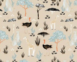 Safari Dreams - Menagerie Sand boy Teresa Chan from Camelot Fabrics