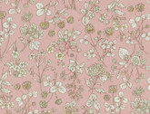 Memoire a Paris OXFORD - Tossed Floral Light Pink from