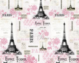 Paris Eiffel Tower Words  from David Textiles Fabrics