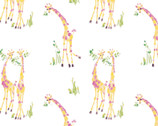 The Girls Collection - Sweet Giraffes by Laura Ashley from Camelot Fabrics