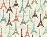 Paris Spring - Eiffel Tower from David Textiles Fabrics