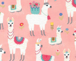 Alpaca Adventures - Pink from Timeless Treasures Fabric