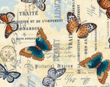 Natural Beauty Butterfly Cream from Timeless Treasures Fabric