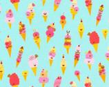 Hello Lucky - Ice Cream Aqua  from Robert Kaufman Fabric