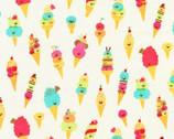 Hello Lucky - Ice Cream Cream  from Robert Kaufman Fabric