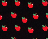 What Do The Animals Say - Apples Black from Robert Kaufman Fabric