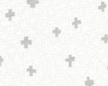 Wayside - Geo Plus Metallic White by Karen Lewis from Robert Kaufman Fabric