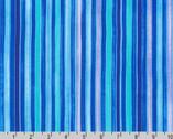 Synchronicity - Stripes Caribbean Blue Purple from Robert Kaufman Fabric