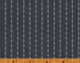 Vintage Blue - Circle Dotted Stripe Navy Blue by Another Point of View from Windham Fabrics