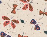 Plant Peeps COTTON LINEN - Flutter by Meenal Patel from Cloud 9 Fabrics