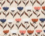Plant Peeps COTTON LINEN - Flower Friends by Meenal Patel from Cloud 9 Fabrics