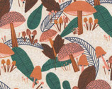 Plant Peeps COTTON LINEN - Forest Flourish by Meenal Patel from Cloud 9 Fabrics