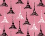 Paris Tower - Pink from David Textiles Fabrics