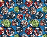 Avengers - Character Hexagon Blue from Springs Creative Fabric