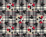 Mickey and Minnie Mouse - FLEECE Plaid from Springs Creative Fabric