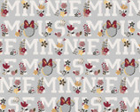 Minnie Mouse - FLEECE Words Floral from Springs Creative Fabric
