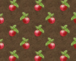Apple Festival - Small Set Apples Brown by Jane Shasky from Henry Glass Fabric