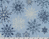 Winter Shimmer - Snowflakes Glacier Blue by Jennifer Sampou from Robert Kaufman Fabrics