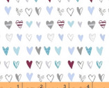 Bah Bah Baby - Hearts White by Jill McDonald from Windham Fabrics