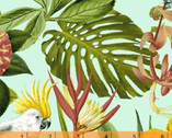 Paradise - Plant Birds Aqua by Whistler Studios from Windham Fabrics