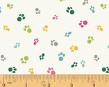 Catnip - Cat Paws Colorful by Janelle Penner for Whistler Studios from Windham Fabrics